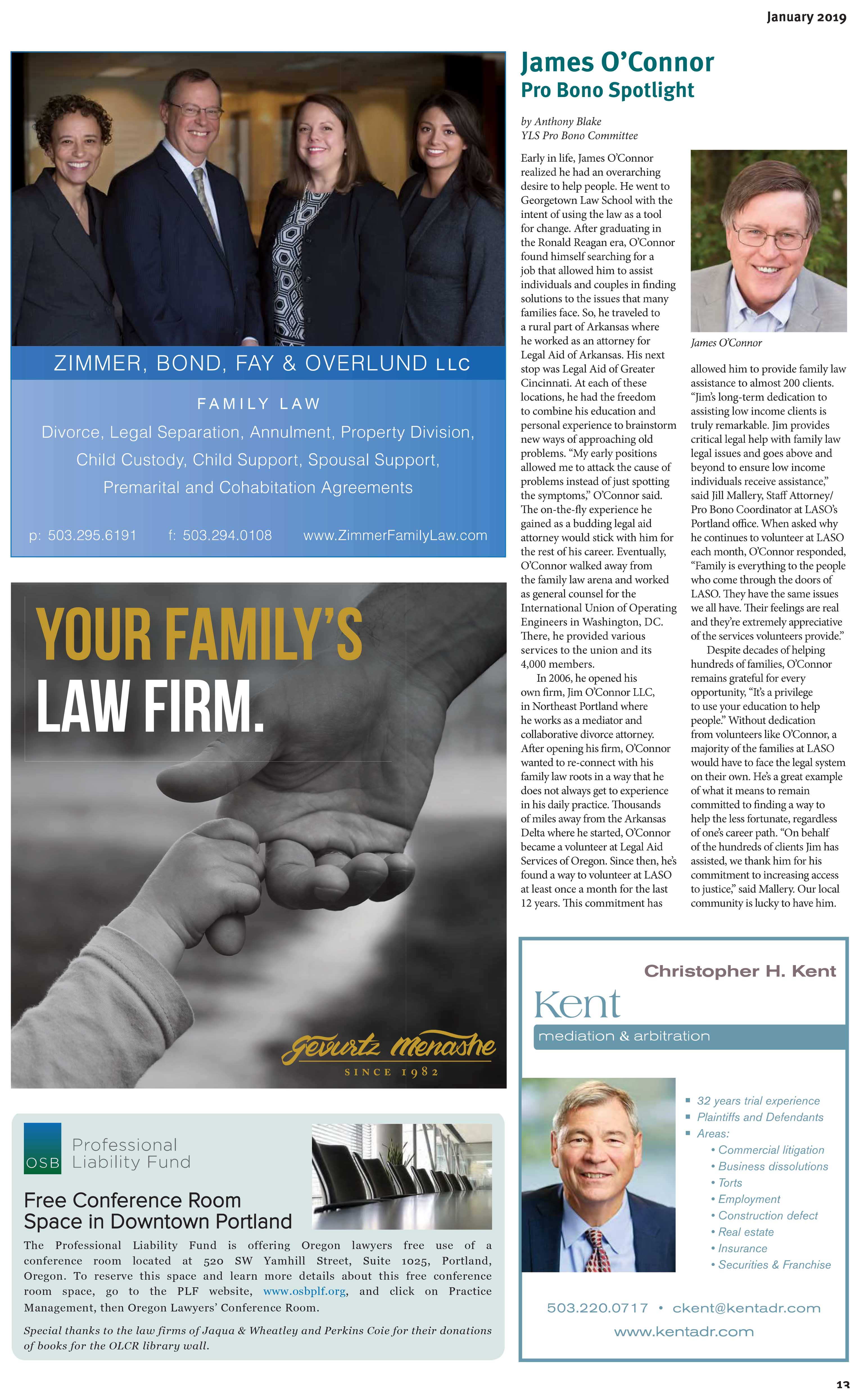 article from Pro Bono Spotlight publication